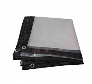C-J-H Bache PVC Transparent Tissu Solaire, bâche de Pare-Brise, bâche de Ferme, Tissu Isolant en Plastique, Film de Serre de Culture, épaissi perforé bâche Transparente imperméable à l'eau,4m*10m de la marque C-J-H image 0 produit