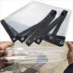 C-J-H BacheTissu imperméable à l'eau épais en Plastique Transparent Bord de Film imperméable à l'eau étanche Tissu Isolant de Temps Froid,3m×5m de la marque C-J-H image 3 produit