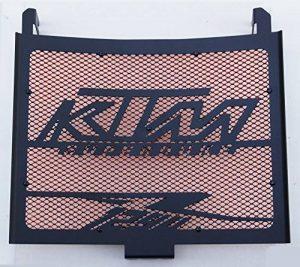 Cache radiateur/Grille de radiateur 1290 R Superduke Noir satiné + Grillage Orange de la marque Wiltuning image 0 produit