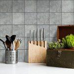 Carrelage Sticker Autocollant I Art de tuiles Mural - Peinture carrelage Salle de Bain et Cuisine Stickers Carreaux de Ciment I Design Beton - 15x15 cm (40 pièces) de la marque creatisto image 1 produit