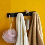 CASEWIND Pratique Patère Murale avec 4 Crochets en Acier Inoxydable Porte Manteau Porte-Serviette Chapeau Peinture Noire Matte Set d'Accessoire Toilettes Salle de Bain de la marque CASEWIND image 2 produit