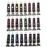 Color Technik Set de 24 tubes de peinture acrylique Qualité professionnelle Palette incluse Tubes en aluminium Pour peinture sur toile, bois, argile, tissu, ongles et céramique Pigments riches de la marque Color Technik image 3 produit