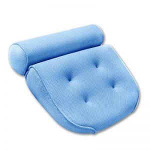 Coussin de Bain, Oreiller Baignoire pour Bain Relaxant ou Spa Familiale, Oreiller Anti-Moisissure Sèche Rapide et Comfortable - Bleu de la marque Antart image 0 produit