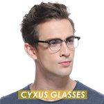 Cyxus lumière bleue lunettes demi-trame [Transparent Lentille] anti fatigue oculaire, grande pour les lecteurs d'ordinateur/téléphone portable/jeu(noir cadre) de la marque Cyxus image 3 produit