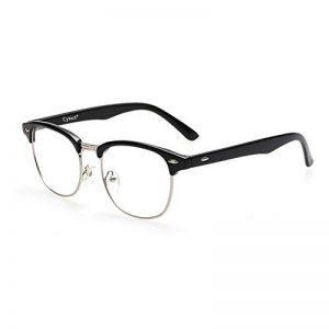 Cyxus lumière bleue lunettes demi-trame [Transparent Lentille] anti fatigue oculaire, grande pour les lecteurs d'ordinateur/téléphone portable/jeu(noir cadre) de la marque Cyxus image 0 produit