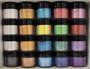 Daily Art Poudre de mica Pigment Nacré Lot de 20couleurs, 5G chaque de la marque Daily-ART image 0 produit