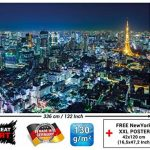 Décoration murale de Tokyo City Tokyo métropole d'horizon de nuit image Panoramique de la tour de Tokyo Décoration de Tokyo Ville de croisière du monde   murale photo by GREAT ART (336 x 238 cm) de la marque GREAT-ART image 2 produit
