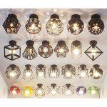 Desinger Moderne Terre Plafond Lumière Creative minimaliste cage métallique Mini Pendentif Plafond lampe tendance Fer peinture Hémisphérique Lustre Pour Salon Cuisine Salle De Bains Chambre Allée de la marque Desinger image 4 produit