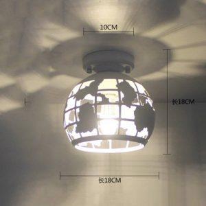 Desinger Moderne Terre Plafond Lumière Creative minimaliste cage métallique Mini Pendentif Plafond lampe tendance Fer peinture Hémisphérique Lustre Pour Salon Cuisine Salle De Bains Chambre Allée de la marque Desinger image 0 produit