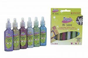 Diam's 3D Mini Lot de 6 Peintures Couleurs Pailletées de la marque Inconnu image 0 produit