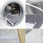 DoGeek -Sac à Linge - Filets de Lavage Sac a Linge-Sacs de Blanchisserie pour Protèger Les vêtements à Laver en Machine - Lot de 2 - Blanc de la marque DoGeek image 4 produit