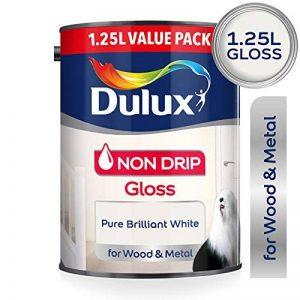 DULUX 1,25L anti-goutte Peinture brillante–Blanc pure brillant de la marque Dulux image 0 produit