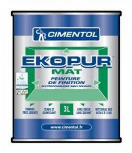 EKOPUR MAT peinture mate glycéro sans solvant int 15L blanc de la marque cimentol image 0 produit