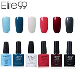 Elite99 Vernis Semi-Permanent Vernis à Ongles UV LED Soak Off Kit 6 Couleurs X 7.3ml de la marque Elite image 0 produit