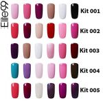 Elite99 Vernis Semi-Permanent Vernis à Ongles UV LED Soak Off Kit 6 Couleurs X 7.3ml de la marque Elite image 1 produit