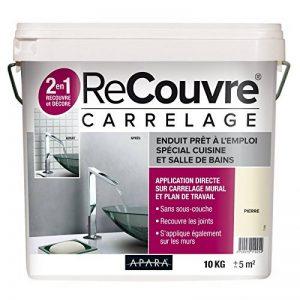 Enduit carrelage salle de bain, cuisine, sans sous couche, recouvre les joints, lisse et décore, plusieurs coloris,10 Kg Béton (RAL 7047) de la marque APARA image 0 produit