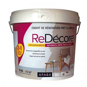 Enduit décoratif, rénovation rapide, 2 en 1, lisse et décore sur plâtre, peintures, crépis, fibres, 15Kg Blanc de la marque APARA image 0 produit