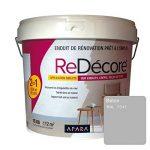 Enduit décoratif, rénovation rapide, 2 en 1, lisse et décore sur plâtre, peintures, crépis, fibres, 15Kg Blanc de la marque APARA image 3 produit