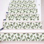 Escaliers auto-adhésif fond d'écran vert soin des yeux enfants sauvages Nordic enfants décoration de la maison 3D détachable DIY étapes autocollants moderne HD escalier étanche fond d'écran acheter tr de la marque Limin image 2 produit