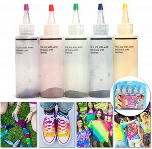 Essort Kit Tie-Dye, Tie Dye Kit - Art & Crafts, Peinture Textile Permanente Couleurs Vives avec 20 Élastiques en Caoutchouc et 4 Paires de Gants en Vinyle de la marque Essort image 0 produit