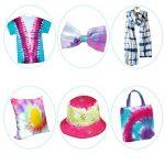 Essort Kit Tie-Dye, Tie Dye Kit - Art & Crafts, Peinture Textile Permanente Couleurs Vives avec 20 Élastiques en Caoutchouc et 4 Paires de Gants en Vinyle de la marque Essort image 2 produit