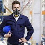 Ewolee Masque Anti-Poussiere Protection Peinture Respirateur chimique industriel Contre Vapeur Toxique, Masque Cartouche Protection Soupape de Facile à Respirer, Noir de la marque Ewolee image 4 produit