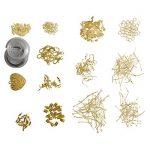 Fabrication de Bijoux Kit (1027 Pcs) - Lot Plaqué Gold Sans Nickel - Outils de Réparation de Bijoux pour Fils de Perles, Faire des Boucles d'oreilles, des Colliers, des Bracelets, des Breloques de la marque Kurtzy image 1 produit