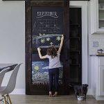 Fancy-fix Vinyle Tableau Noir Autocollant Ardoise 43cm x 200cm Effaçable Sticker Mural Adhésif pour Bureau Maison École de la marque fancy-fix image 2 produit