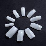 Faux Ongles Artificiels en Acrylique DIY Faux Ongles Acrylique Gel UV Art Tips (100 Pièces, Plein Naturel Translucide) de la marque Hotop image 3 produit
