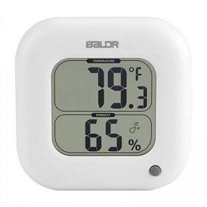 Fdit Mini LCD Numérique Thermomètre Intérieur Salle Humidité Température Affichage Mur Max Min Électronique Hygromètre(Blanc) de la marque Fdit image 0 produit