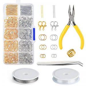 FEPITO Kit de Fabrication de Bijoux Argent et Or Fermoirs de Homard Ouvrir Les Anneaux de Saut et Les Conclusions de Bijoux Pin avec Pinces de la marque FEPITO image 0 produit