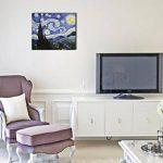 Fokenzary - Peinture à l'huile peinte à la main sur toile - Reproduction de La Nuit étoilée de Van Gogh - Encadrée, prête à être suspendue, Toile, 50 x 60 cm de la marque Fokenzary image 1 produit
