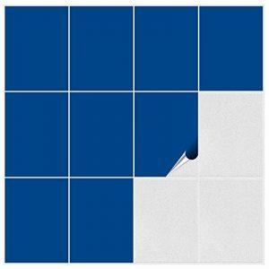 FoLIESEN 2292020Lot d'autocollants muraux carrelage pour Cuisine et Salle de Bains, PVC, Bleu Iris Brillant, 60 Stück de la marque FoLIESEN image 0 produit