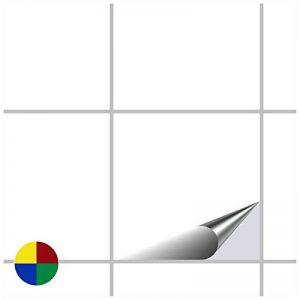 FoLIESEN Autocollant en tuile pour Salle de Bain et Cuisine - 15x15 cm - Blanc Klassik Brillant - 50 Autocollants pour Les Carreaux de Murs de la marque FoLIESEN image 0 produit