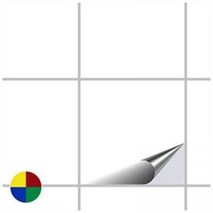 FoLIESEN Carrelage Adhésif pour Cuisine et Salle de Bain–Blanc Brillant–20x 20cm Lot de 20 de la marque FoLIESEN image 0 produit