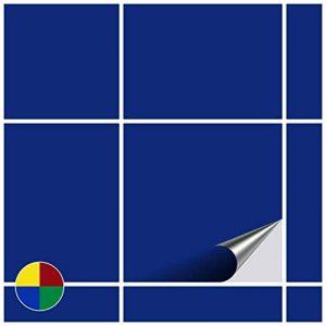 FoLIESEN Graz Design Autocollant pour Cuisine et Salle de Bain–15x 15cm–Bleu Roi Brillant–Lot DE 50 de la marque FoLIESEN image 0 produit