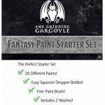 Grinning Gargoyle FPS001 - Ensemble de Peinture de Fantaisie - Peintures acryliques pour Miniatures - 20x Couleurs Assorties de 18 ML- Comprend Un Pinceau - Peintures de Guerre - Peintre de l'Armée de la marque The Grinning Gargoyle image 4 produit