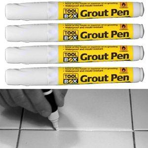 Grout Pen Blanc pour Ravive et Restaure fatigués Joint pour, maison, bureau, cuisine, Lot de 4 de la marque Prime-Qualität-Everything-You-Need image 0 produit