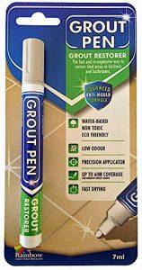 Grout Pen–Stylo conçu pour restaurer les joints de carrelage dans la salle de bains et la cuisine (Gris clair) de la marque Grout Pen image 0 produit