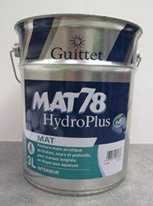 GUITTET - Peinture Guittet Mat 78 HydroPlus blanc 3L - Mat, Blanc de la marque GUITTET image 0 produit