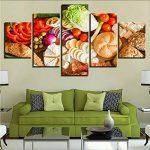 Gwgdjk Hd Prints Affiche Home Decor Toile Photos Œuvres 5 Pièces Fruits Aliments Peintures Pour Cuisine & Restaurant Mur Art Cadre-40X60/80/100Cm,Without Frame de la marque gwgdjk image 2 produit