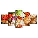 Gwgdjk Hd Prints Affiche Home Decor Toile Photos Œuvres 5 Pièces Fruits Aliments Peintures Pour Cuisine & Restaurant Mur Art Cadre-40X60/80/100Cm,Without Frame de la marque gwgdjk image 3 produit
