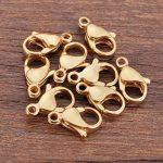 Haisiluo mousquetons de 10pcs en acier inoxydable plaqué or Bijoux Apprêt 12mmx8mm de la marque Haisiluo image 1 produit