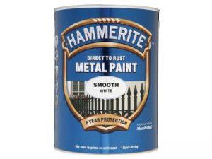 Hammerite 5084861Peinture métallique anti-rouille de 5l–Blanc lisse de la marque Hammerite image 0 produit