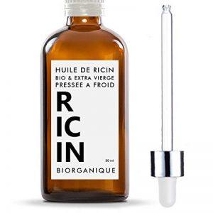 Huile de Ricin 100% Bio, Pure et Naturelle - 50 ml - Soin pour Cheveux, Cils, Ongles, Peau. de la marque Biorganique image 0 produit