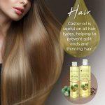 Huile de ricin pressée à froid PraNaturals 500 ml – 100% naturelle, végane, pure, pour encourager la croissance des cheveux et des cils, adoucir la peau et le visage. Riche en OMEGA-6 et OMEGA-9 de la marque PraNaturals image 4 produit
