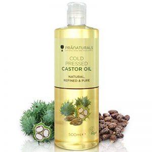 Huile de ricin pressée à froid PraNaturals 500 ml – 100% naturelle, végane, pure, pour encourager la croissance des cheveux et des cils, adoucir la peau et le visage. Riche en OMEGA-6 et OMEGA-9 de la marque PraNaturals image 0 produit