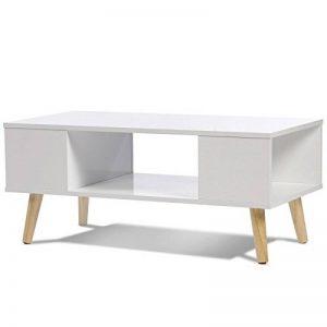 IDMarket - Table Basse Effie scandinave Bois Blanc de la marque IDMarket image 0 produit