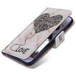 JAWSEU Coque Etui iPhone XR Portefeuille Cuir à Rabat, Luxe Mode Coeur d'amour Marbre Étui Ultra Mince Leather PU Wallet Flip Case Stand Magnetique Bumper Case de la marque JAWSEU image 3 produit