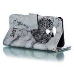 JAWSEU Coque Etui LG Q6 Portefeuille Cuir à Rabat, Luxe Mode Coeur d'amour Marbre Étui Ultra Mince Leather PU Wallet Flip Case Stand Magnetique Bumper Case de la marque JAWSEU image 1 produit